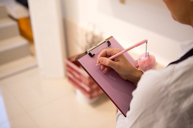 A person sketching